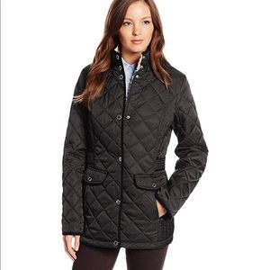 Nautica Navy Quilted Barn Jacket (Small)